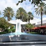 Les fontaines de la place de Lincoln Road Mall