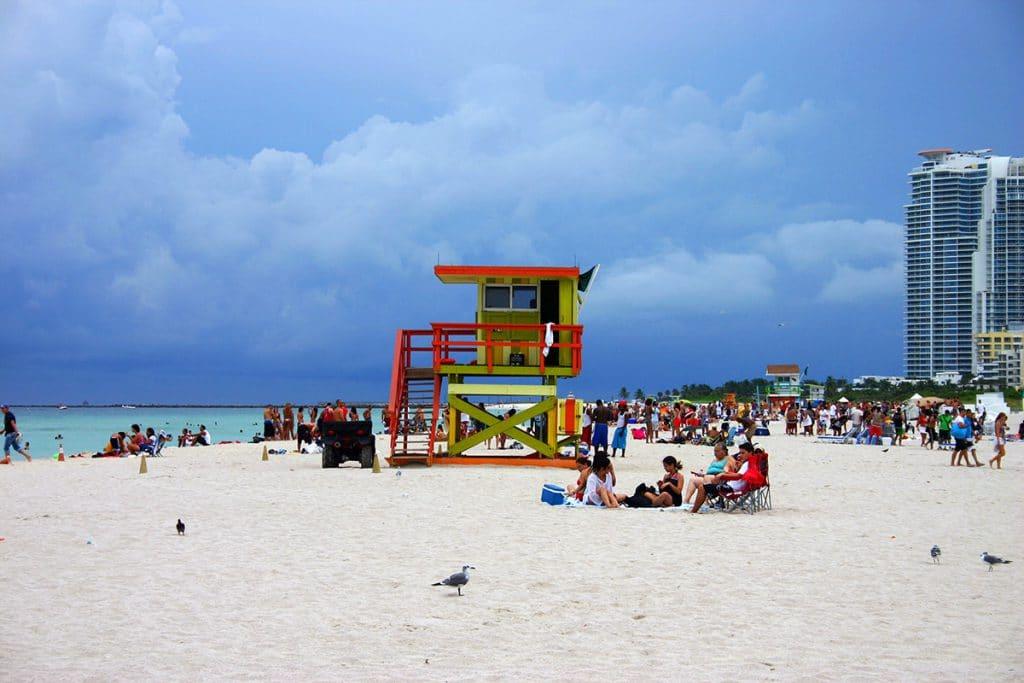Cabane de secouriste à Miami Beach