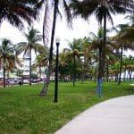Lummus Park, le parc qui longue Océan Drive à Miami Beach